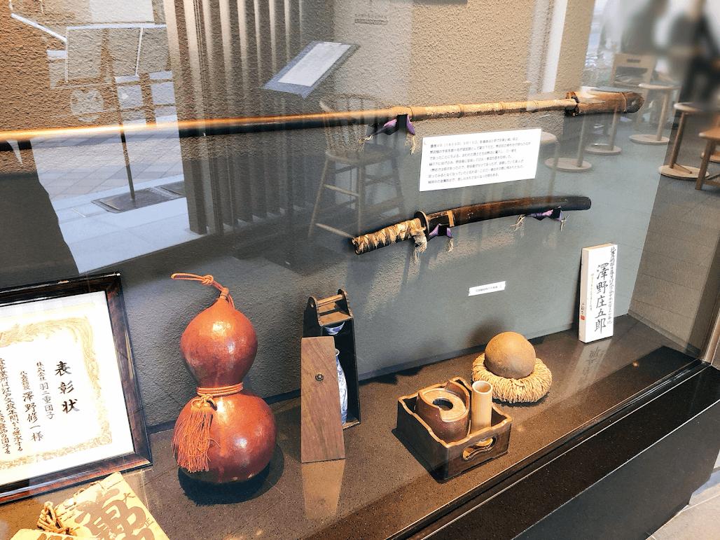 彰義隊の槍と刀