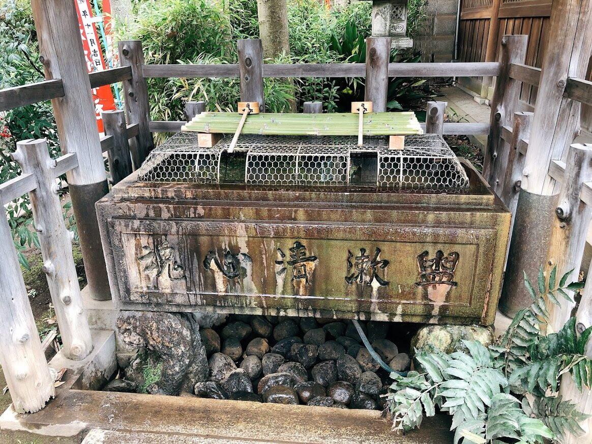 花園稲荷神社-手水舎