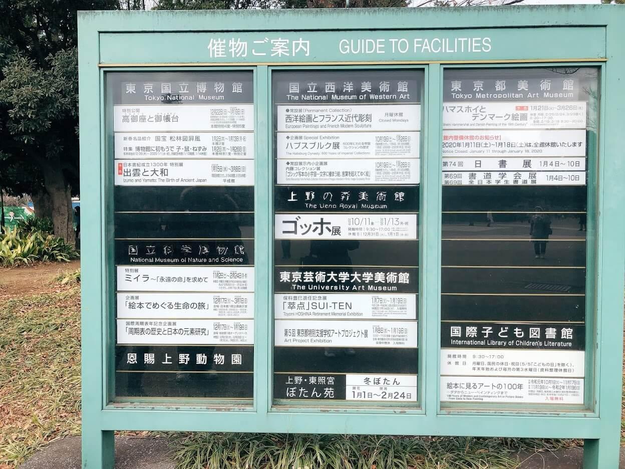 上野美術館2020年1月