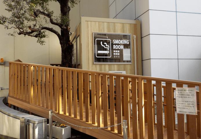 喫煙所-上野区役所