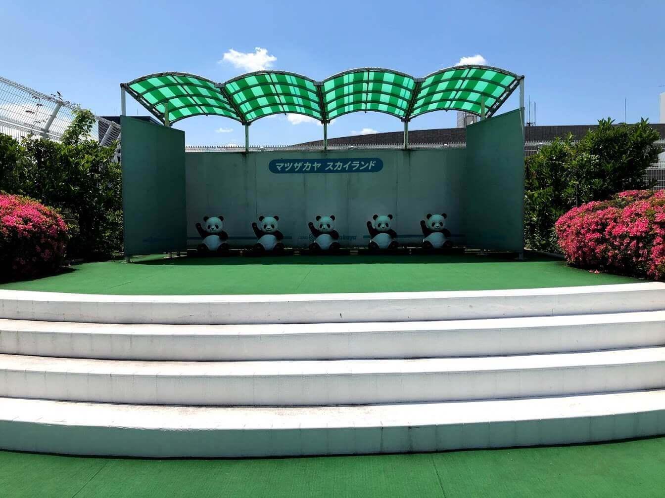 上野松坂屋の屋上